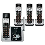 YBS AT&T DECT 6.0 Expandable Cordless Phones System with Talking Caller ID and Digital Answering System - 4 Handset Pack