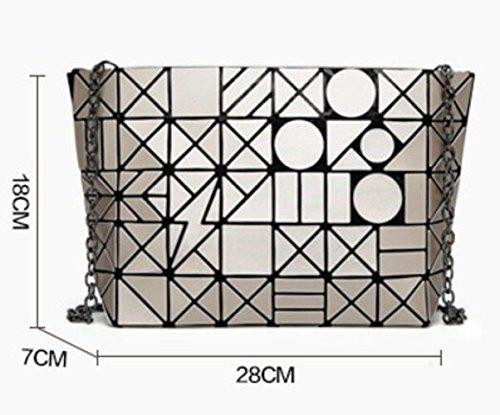 Borsetta Tracolla Geometrica WLFHM A Borsa Opaco Tracolla Silver A Diamante 8 5 Borsa Impunture Borsa rq4RXOqx