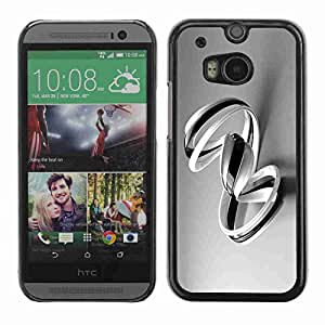 Planetar? ( B & W Swirls ) All New HTC One (M8)hard printing protective cover protector sleeve case