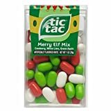 Tic Tac Merry Elf Mix is a great candy treat for the holiday season! Contains a flavorful mix of Cranberry, White Lime, and Green Apple. Artificially flavored.
