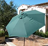 9ft aluminum market umbrella crank & tilt color Hunter Green For Sale