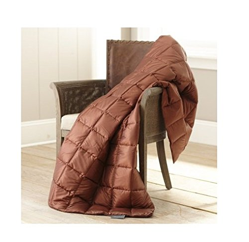 Price comparison product image Eddie Bauer Packable Down Throw Blanket, Copper