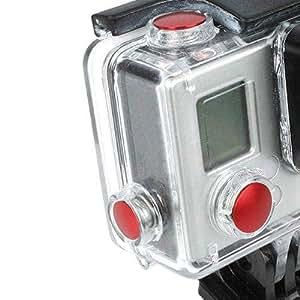 Aluminum Anodized Color Button Set For Gopro 3plus/ Plus Housing - Red