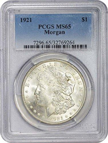 1921 Morgan Silver Dollar $1 MS-65 PCGS