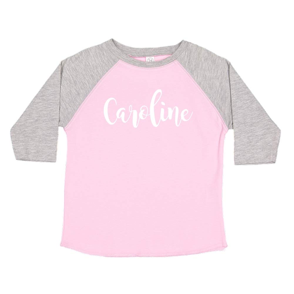 Caroline Personalized Name Toddler//Kids Raglan T-Shirt