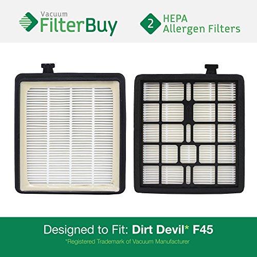 2 - FilterBuy Dirt Devil F45  HEPA Replacement Filters, Part