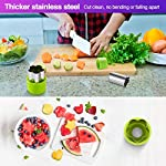 Gimars Large + Small Stainless Steel Cookie & Vegetable & Fruit Cutters Shapes Sets, Mini Cookie Stamp Mold, Sandwich Cutters for Kids Baking, Bento Box and Food Decoration Tools for Kitchen 11 ? 16 PCS 2 Size (8 large : 1.8 in x 2.1 in & 8 small : 1.2 in x 1.65 in.) ¡°One cookie to one kid¡± bite size deep shape mini cookie cutters for choices - The large cookie cutters are perfect to make bite size mini cookie,spritz cookies, decorations for cake, pie crust, gum paste work, craft projects, fondant cutouts,Pastry, mini-tart, etc. The small cookie cutters are great to cut shapes for kids lunch bento box, fruit and vegetable shapes,fruit platter, drinks garnishes etc ? Thicker non rusting stainless steel cookie cutters with fine welding seams to cut food clean without bending or falling apart - Thicker high quality package of food grade stainless steel and plastic silica gel material, not contain BPA. These kids mini cookie cutters are built to last for a long time and does not rust after cleaning. Sturdy and sharp to cut shapes clean with ease. These tiny cookie cutters shapes are very easy to use ? Thicker non rusting stainless steel cookie cutters with fine welding seams to cut food clean without bending or falling apart - Thicker high quality package of food grade stainless steel and plastic silica gel material, not contain BPA. These kids mini cookie cutters are built to last for a long time and does not rust after cleaning. Sturdy and sharp to cut shapes clean with ease. These tiny cookie cutters shapes are very easy to use