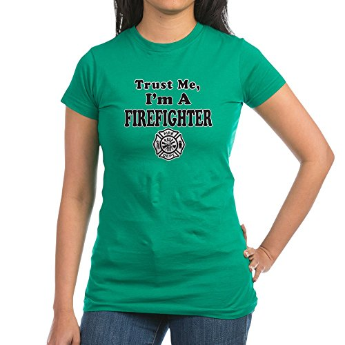Royal Lion Junior Jr. Jersey T-Shirt (Dark) Trust Me I'm A Fireman Firefighter - Kelly Green, Large ()