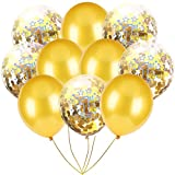 Inkach- Confetti Balloons, 10pcs 12'' Latex Party Balloons for Baby Shower Birthday Decor (B)