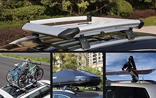 UDP 2Pcs Fits for Kia Carens Rondo 2013-2020 Adjustable Crossbar Cross bar Roof Rail Luggage Cargo Carrier Lockable Roof Rack Bar Silver