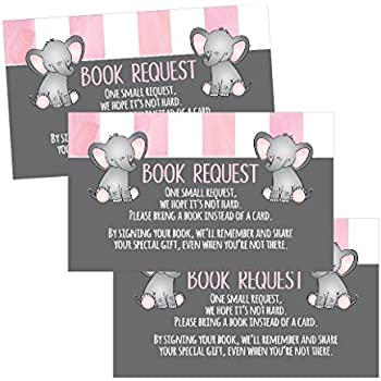 amazon com 25 books for baby request insert card for pink girl