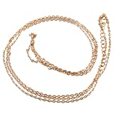 Frcolor Women's Sexy Bikini Beach Body Belly Chain Tassel Double-Layer Waist Chain (Golden)