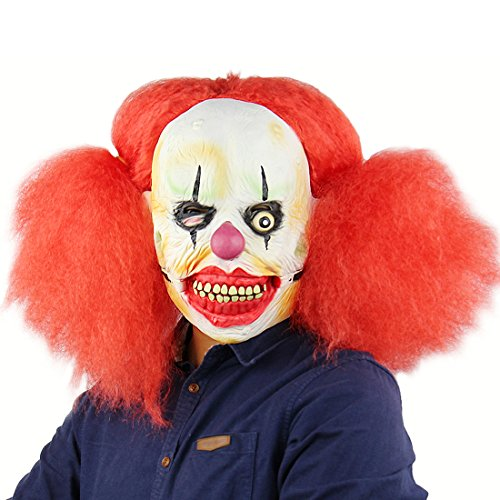 Hophen Scary Evil Clown Latex Mask Halloween Horror Cosplay Costume Prop (as (Evil Clown Latex)
