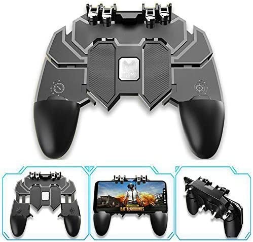 Cell Phone Game Triggers Sensitive Aim Keys,Game Trigger Joystick Gamepad Grip for iOS and Android Smartphone with Cooling Fan GXSLKWL Mobile Game Controller