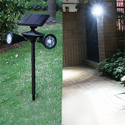 (Uplord 2 in 1 Solar Light,Wireless 12LED Outdoor Solar Garden Stake Lights,Solar Light Outdoor Waterproof Motion Sensor Wall Light,Yard Path Lawn Landscape Lamp Decor)