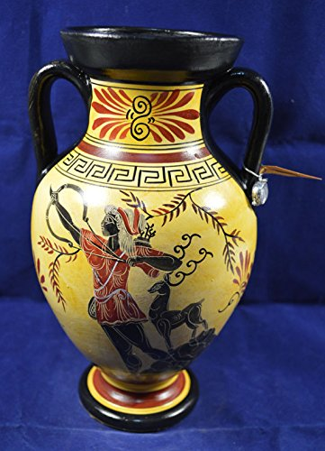 Amazon Vase Classical Period Reproduction Amphora Hand Painted