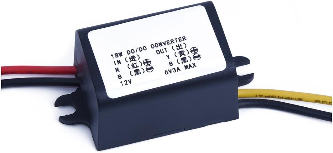 R Transformador Convertidor Conversor Adaptador DC-DC 12V a 6V para Coche TOOGOO