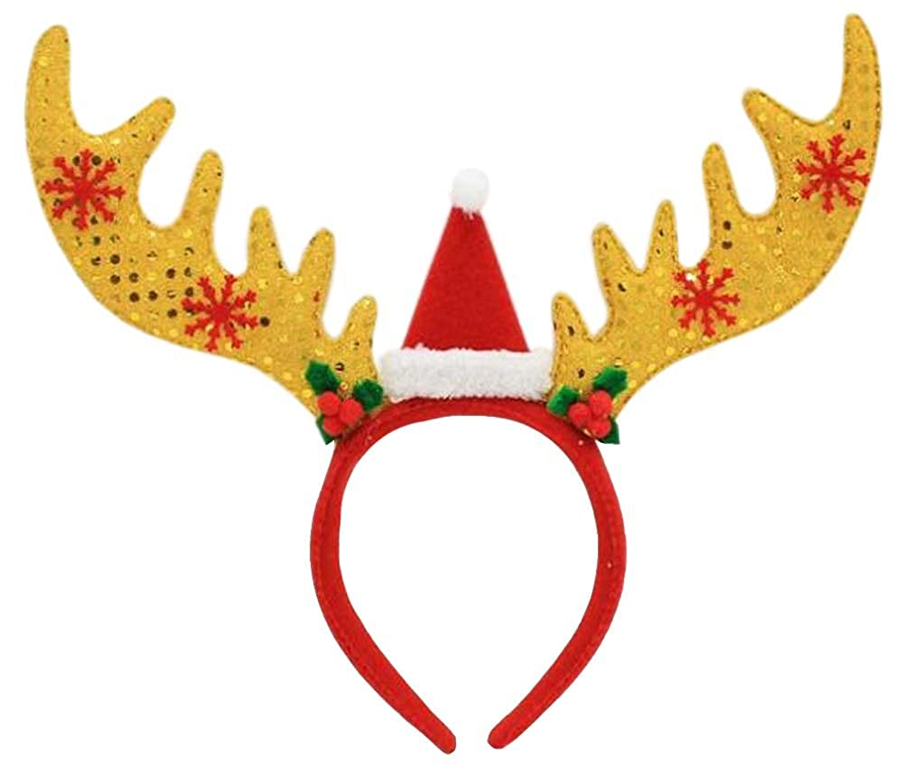 ANDES Christmas Headband for Holiday Costume Party Pack of 6
