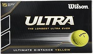 WILSON Herren Bälle Ultra Lue 15 Ball Pk Yellow, Gelb, 1, WGWR60600