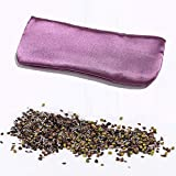 Lavender Eye Pillow- Silky Eye Pillow for Yoga, Meditation Relaxation. This Eye Mask Is Perfect for Sleeping.Made of Lavender Flowers Organic Cassiae.Get One for Yourself or As a Gift