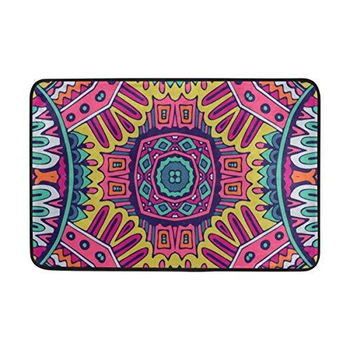 - BathMat Ethnic Colorful Pattern Doormat Indoor Outdoor Entrance Floor Welcome Mats Bathroom Rug