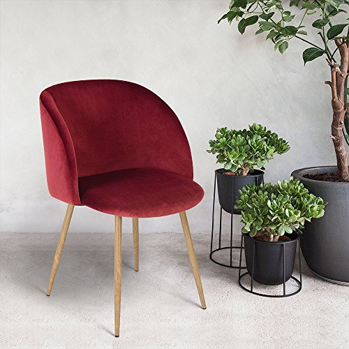 Mid-Century Modern Velvet Accent Arm Chair for Living Room,Sofa Lounge Chair with (Metal Modern Lounge Chairs)