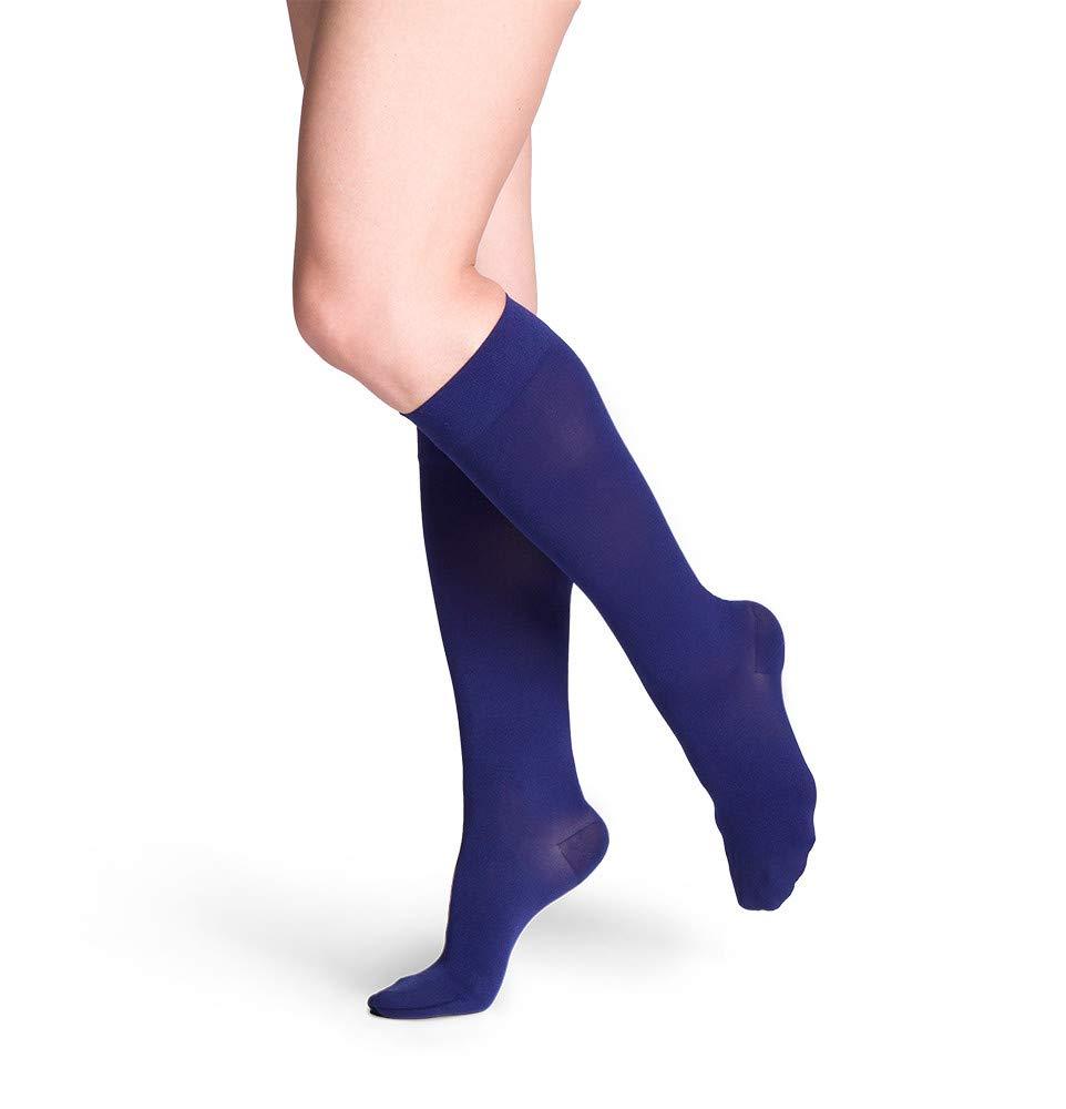 Sigvaris 841C Soft Opaque 15-20 mmHg Closed Toe Knee Highs Size: Large Short (LS), Color: Black 99 by Sigvaris B004K5MRPW