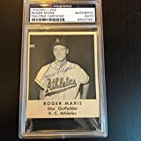 1959 Roger Maris Signed Autographed Armour Bacon Baseball Rookie Card PSA DNA