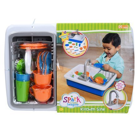 Spark Kitchen Sink,Blue,15.8 x 14.8 x 5.8 inches (Canada Playsets)