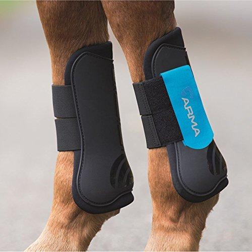 ARMA Open-Front Boots (Black/Blue, Horse)