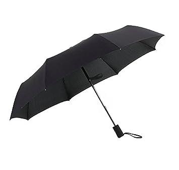 homeself automática plegable paraguas, 8 costillas paraguas de viaje resistente al viento para manejo con