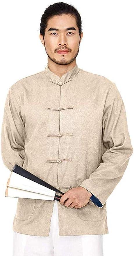 WYUKN Taichi Hombre,Ropa Principiantes Chaqueta De Tai Chi para Hombre Camisas Reversibles De Artes Marciales De Algodón/Lino Camisas De Manga Larga De Kung Fu con Cuello Mandarín,Khaki-UKXS/Tags: Amazon.es: Hogar