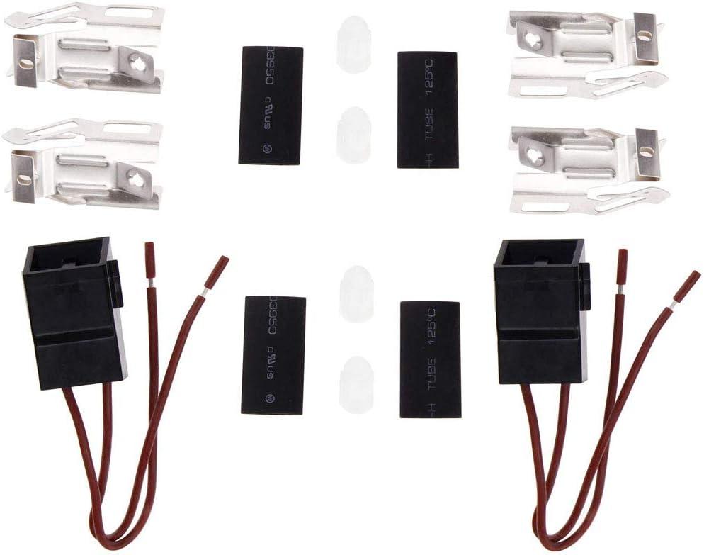 2 Pack ERR117 Burner Receptacle Kit For Range Stove Element Plug Receptacle Block Terminal Block Range Receptacle Whirlpool Kenmore Electric Stove Range 766339 74-06-132 74-06-190 550226 71930