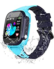 Kids Smartwatch IP67 Waterproof - Touch Screen Wrist Watch with Phone Call Voice Chat SOS AGPS LBS Tracker Camera Alarm Clock, Student Smart Watches Girls Boys Child Back to School Gift