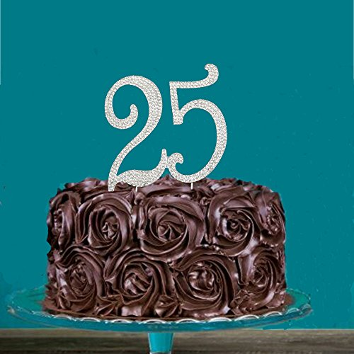 Outstanding 25Th Anniversary Cake Toppers Shop 25Th Anniversary Cake Toppers Funny Birthday Cards Online Chimdamsfinfo