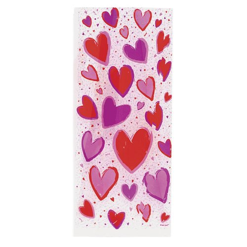 20 Hearts Cello Bags - Cellophane Gift Bags with ()