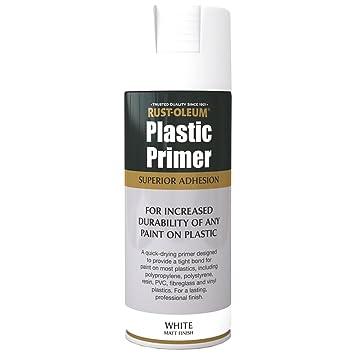 Rust-Oleum AE0030003E8 400ml Plastic Primer Spray Paint-White, not_  not_Applicable