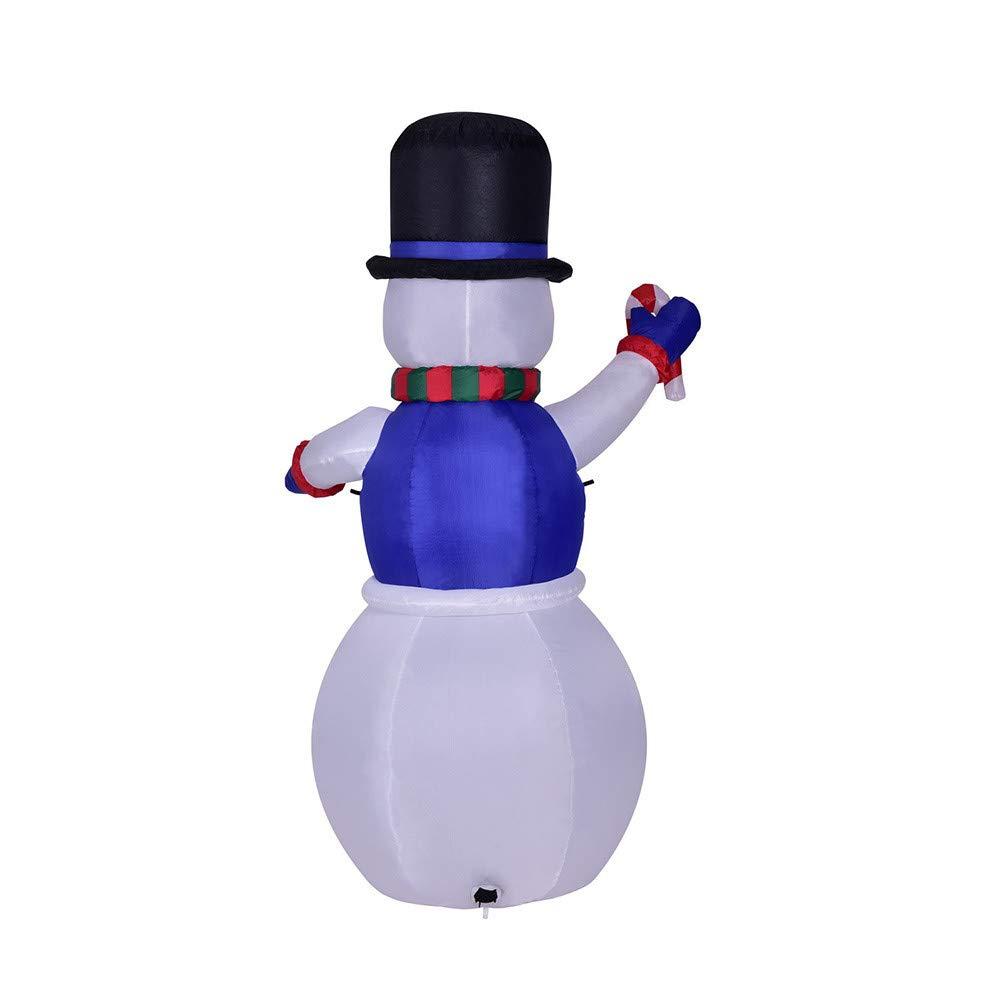 Amazon.com: LtrottedJ Christmas Lighted Inflatable Snowman Hat LED Yard Art Decoration Yard Garden: Toys & Games