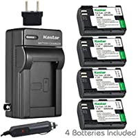 Kastar Charger and Battery 4x for Canon LP-E6 LP-E6N, Canon EOS 60D 60Da EOS 70D XC10, EOS 5D Mark II 5D Mark III 5D Mark IV, EOS 5DS 5DS R, EOS 6D 7D Mark II, BG-E14 BG-E13 BG-E11 BG-E9 BG-E7 BG-E6