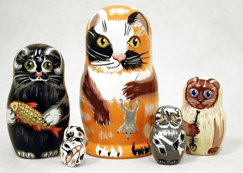 Alley Cat Nesting Doll 5pc./4'' by Golden Cockerel