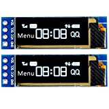 MakerFocus 2pcs I2C OLED Display Module 0.91 Inch I2C SSD1306 OLED Display Module White I2C OLED Screen Driver DC 3.3V~5V for Arduino
