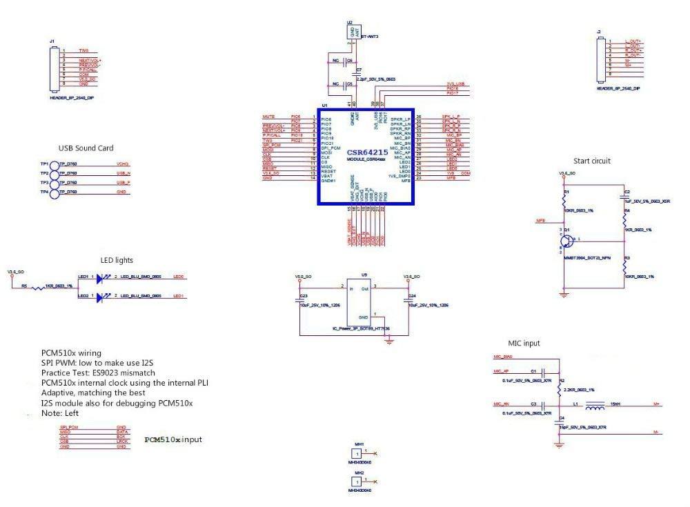 Yintiod CSRA64215 APTXLL Bluetooth Receiver Board Car Audio Lossless Music Hifi Bluetooth 4.2