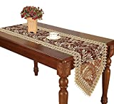 Long Dining Table Simhomsen Burgundy Lace Table Runner And Dresser Scarves Embroidered Leaves 16 By 90 Inch long