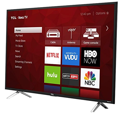 TCL 49S405 49-Inch 4K Ultra HD Roku Smart LED TV (2017 Model) by TCL (Image #1)