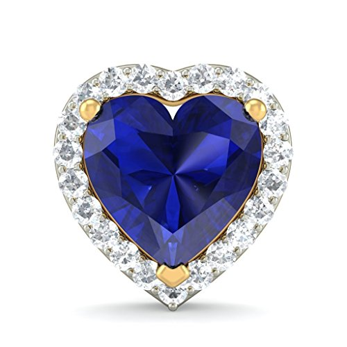 Or jaune 18 K 0,22 CT TW White-diamond (IJ | SI) et tanzanite Boucles d'oreille à tige