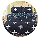 HHXQXB Bed Linen Hypoallergenic Bedding Set Fine Fabric Bedding Set with Year Round Duvet Zipper Bed Cover150 X 200 cm + Bed Sheet 160x230 cm, 1 Pillowcase45x75cm
