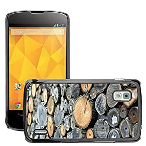 Hot Style Cell Phone PC Hard Case Cover // M00153041 Wood Holzstapel Combs Thread Cutting // LG Nexus 4 E960