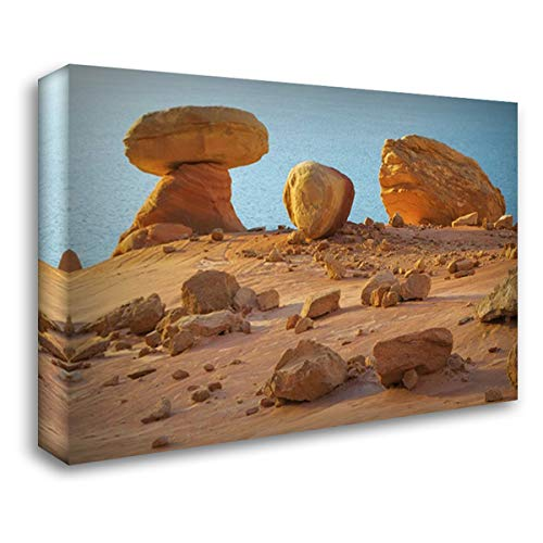 Arizona, Lake Powell, Padre Bay Rock Formations 40x28 Gallery Wrapped Stretched Canvas Art by Paulson, - Rock Padres