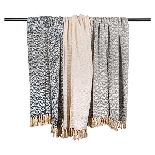 Bedroom DII Diamond Throw 50 x 60″, Gray, farmhouse blankets and throws