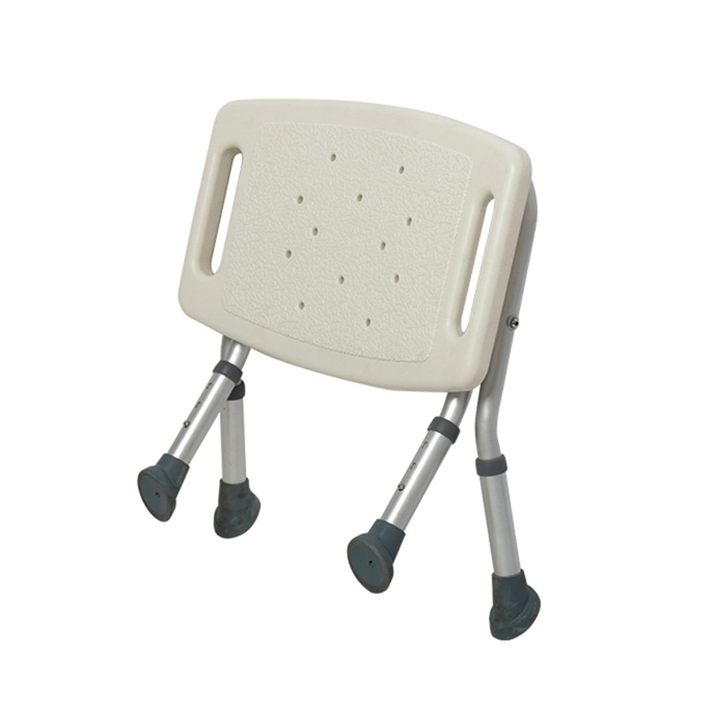 Bedside Commodes Bathroom folding shower chair stool with armrests, adjustable anti-slip bath stool suitable for the elderly children's use white load-bearing 120KG